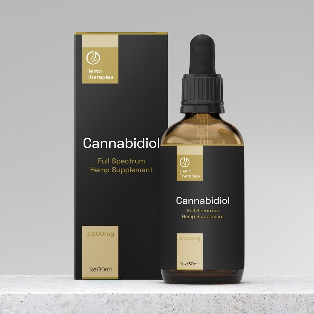 CBD Oil Full Spectrum 3,000mg, CBD Extract in Black Seed Oil, 1oz/30ml - Rick's Hemp Oil